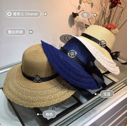 $enCountryForm.capitalKeyWord NZ - 2019 new lace spliced big eaves Wide Brim hat grass hat, socialite style, sunshade beach necessary