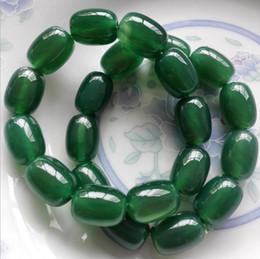 Natural Green Agate Road Pass Bracelet Green Bracelet Bucket Beaded Handmade Beaded Wild Retro Green Bracelet