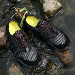 Beach Shoes 47 Australia - 2019 Spring And Summer New Outdoor Breathable Beach Shoes Step Wading Wear-resistant Breathable Hiking Shoes Size 35-47