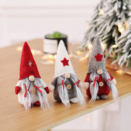 christmas elf dolls 2019 - Christmas Santa Nisse Nordic Elf Figurine Ornaments Christmas Doll Standing Plush Gnome Swedish Holiday Decoration cheap