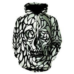 hid design 2019 - New fashion hoodie sweatshirt for men and women, light color hide skull pattern design hoodie Hip Hop streetwear discoun