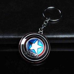 design electronic NZ - Cool Design The Avengers Captain America Shield Alloy Keychain Car Pendant Creative Gift Children's Toys Pendant Key Chain