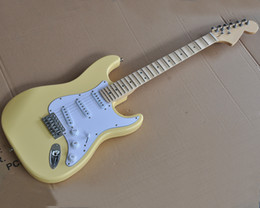 $enCountryForm.capitalKeyWord Australia - Factory wholesale yellow electric guitar with bid headstock,Abalone inlay,Scalloped maple neck,Brass nut,offering customized services