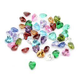 $enCountryForm.capitalKeyWord Australia - 12pcs lot Wholesale Crystal Heart Zircon Birthstone Floating Locket Charms Fit Glass Locket, Accept Customization LSFC478