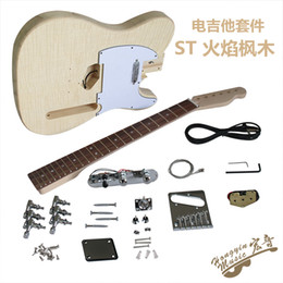 Elm For Body Electric Guitar Australia - Flame Maple Tiger Maple Electric Guitar Elm Piano Body Maple Neck Rose Rose Fingerboard Production Material Combination