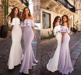 $enCountryForm.capitalKeyWord Australia - Sexy Lilac Off Shoulder Mermaid Bridesmaid Dresses Cheap Black Girl Wedding Guest Gown Plus Size Sheath Prom Evening Party Dresses