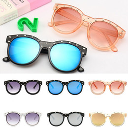 $enCountryForm.capitalKeyWord UK - 2019 New Spring Summer Children Sunglasses Fashion children rivet 650 Sunglasses Kids Uv Protection Fashion Mirror child