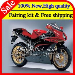 Fairings For Mv Agusta Australia - Body For MV Agusta F4 05 06 R312 750S 1000 R Red black 750 1000CC 13HT7 1000R 312 1078 1+1 MA MV F4 2005 2006 BLK 05 06 Fairing Bodywork