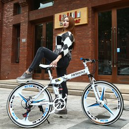 Venta al por mayor de 26 pulgadas bicicleta de montaña plegable estudiante bicicleta a campo traviesa 21/24/27 velocidad bmx bicicleta de carretera velocidad Racing