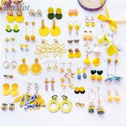 $enCountryForm.capitalKeyWord Australia - Drop Earrings Korean Fashion Women Accessories Summer Sweet Lovely Yellow Candy Tassel Geometry Dangle Earrings for Girl Cute Jewelry