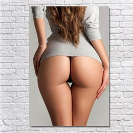 sexy cartoon beautiful UK - Beautiful Big Hips Sexy Girl,HD Canvas Printing New Home Decoration Art Painting (Unframed Framed)