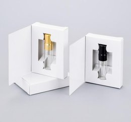 perfume packaging box UK - 200pcs 3ML Customizable Paper Boxes And Glass Perfume Bottle With Atomizer&empty Parfum Packaging by DHL SN332