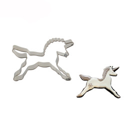 Mold Cutters Australia - Unicorn Shape Biscuit Cookie Cutter Horse Tools Stainless Steel Baking Mold Bakeware Decorating Tools Pastry Tools Non-toxic Cookware