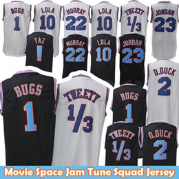 5fa82b23cb80 1 Bugs 2 Daffy Duck 1 3 Tweety Movie Space Jam Tune Squad Jersey 10 Lola  Bunny Bill 22 Murray Basketball Jersey