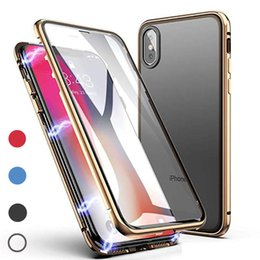 $enCountryForm.capitalKeyWord Australia - Front & Back 3D Glass Case for iPhone X XS XR XS Max Magnetic 360 Full Body Aluminum Metal for Samsung S10 S10 lite
