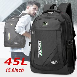 Wholesale 45L Large New Laptop backpack with computer compartment for businesses bag in black bag College Laptop Backpack inch