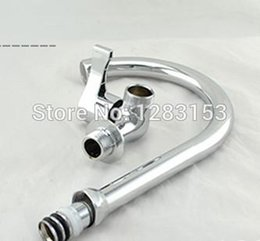 Single Wall Kitchens Australia - Wholesale- free shipping wall mounted kitchen faucet 1 2inch single hole cold water sink tap basin water tap