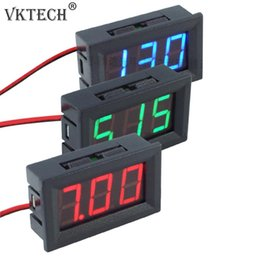 Discount voltage meters for cars - DC4.5-30V 0.56inch Digital Voltmeter Two-wire Three-digit Number LED Display Voltage Meters for Motorcycles Cars
