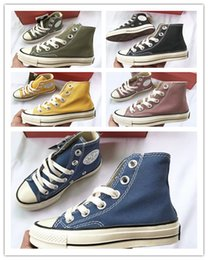 Blue Green Canvas Shoes Australia - (box)Hot Fashion 1970s Converse Chuck All Star Yellow Green Blue Casual Shoes Canvas Shoes kids Trainer Trainers Skate Sneakers zapatos28-35