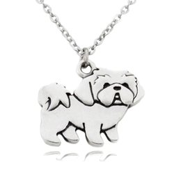 $enCountryForm.capitalKeyWord Australia - Shih Tzu Dog Charms Pendant Locket Necklaces Long Chain Stainless Steel Chain Animals Vintage Silver Fashion Jewelry Necklaces For Women
