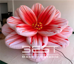 inflatable for event party decoration Australia - Hanging Inflatable Flower Ceiling Pink Inflated Flower for Hall Party Wedding events adversing flowers stage decoration used flowers