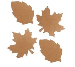 Discount gift tags labels - Leaf Shape Kraft Paper Tag Gift Wrap Hang Tag Creative Price Label Wedding Party Decoration Supplies 500pcs