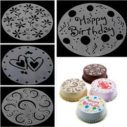 $enCountryForm.capitalKeyWord NZ - 4Pc lot 19.5cm Plastic Cake Stencils Flower Spray Stencils Birthday Cake Mold Decorating Bakery Tools DIY Mould Fondant Template