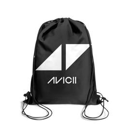 Strung Feathers Australia - Drawstring Sports Backpack 5 Avicii Dj Logooutdoor daily Yoga Pull String Backpack