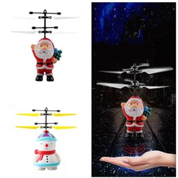 rc helicopter big toys NZ - Christmas Flying Inductive Mini RC Drone Lovely Snowman Suspension Toys Santa Claus Induction Helicopter Kids Christmas Gifts