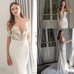 $enCountryForm.capitalKeyWord NZ - 2020 See Through Jewel Neck Julie Vino Mermaid Wedding Dresses Short Sleeves Bridal Dress Backless Beach Plus Size Wedding Gowns