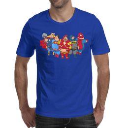 $enCountryForm.capitalKeyWord Australia - Batman Thor Spider-Man Iron man superman memory Mens T-Shirt Crewneck Short-Sleeve Tee Tops blue