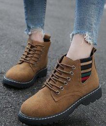 open knee shoes 2019 - 2018 new Martin female British wind student thin flat women's shoes cheap open knee shoes