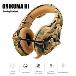 $enCountryForm.capitalKeyWord NZ - Onikuma K1 Camouflage Ps4 Headset Bass Gaming Headphone Game Earphone Casque With Mic For Pc Mobile Phone Xbox One Tablet K1b J190506