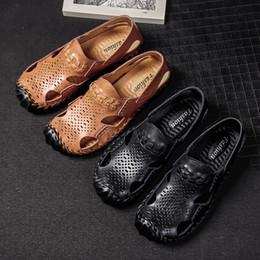 $enCountryForm.capitalKeyWord Canada - Pu Leather Sandals Men Clogs Croc Shoes Crocse Mens Sandles Summer Slippers Garden Shoes Men New 2019 Sandalias Hombre Size 38-48