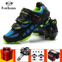 $enCountryForm.capitalKeyWord Australia - Tiebao Cycling Shoes add Bicycle SPD pedal set 2019 Breathable Mountain Bike Shoes Cycle Bicycle men Sneakers women Mtb