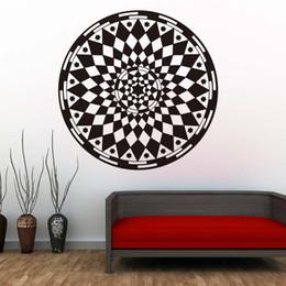 $enCountryForm.capitalKeyWord Australia - 1 Pcs Mandalas Flower Wall Stickers Yoga Pattern Art Design PVC Sticker DIY Wall Decals For Bedroom Home Decor
