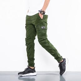 Trousers Big Size Man Australia - Pants 2019 Fashion Cotton Tactical Black Khaki Army Pants Men Casual Cargo Men Slim Trousers Big Size Pant