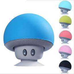 Mobile Tablet Stand NZ - Smart products cartoon mushroom head Bluetooth speaker small sucker creative mini mobile phone tablet stand small stereo