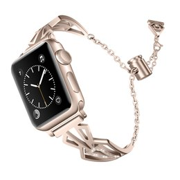 DiamonD apple penDant online shopping - Chain pendant stainless steel diamond watch bands for apple watch mm mm mm iwatch series bracelet straps watchband