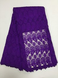 $enCountryForm.capitalKeyWord Australia - The Unique guipure Purple Lace Fabric Allover Floral Water Soluble Chemical Lace Polyester Hollow Out Lace For Elegant Dresses