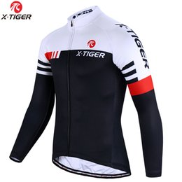 Wholesale X-TIGER Top Quality Cycling Jersey Long Sleeve MTB Bicycle Cycling Clothing Mountain Bike Sportswear Cycling Clothes