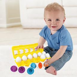 Опт Пасха Matching яйца с желтым яйцом Holder - STEM игрушки развивающих игрушек для детей и малышей выучить цвета Распознавание чисел Easter Gi
