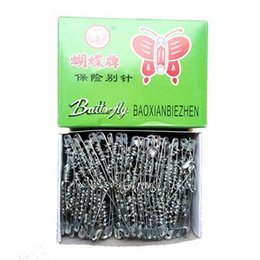 Mediterranean Clothing Style Australia - 500pcs box(3#) Stainless Steel Safety Pins Silver Tone Metal Brooch Badge Jewelry Safety Pin Craft Findings Sewing Accessories