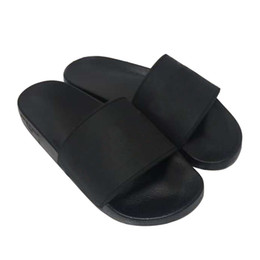 Wholesale Original Logo Women and Men Couple Slippers Slide Sandals Shoes Rubber slide sandal Beach causal slipper Summer Flip Flops Fashion Slippers