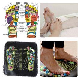 $enCountryForm.capitalKeyWord Australia - Foot Massager Acupuncture Cobblestone Pad Colorful Feet Reflexology Massager Walk Stone Square Cushion Yoga Mat Body Relaxation Home Use