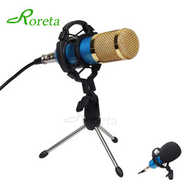 $enCountryForm.capitalKeyWord Australia - Roreta Bm800 Computer Microphone Wired Condenser Sound Karaoke Microphone With Shock Mount For Recording Braodcasting Bm-800 Mic T190704