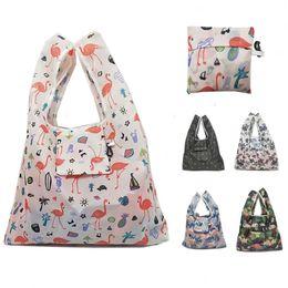 $enCountryForm.capitalKeyWord Australia - Hot Creative Environmental Storage Bag Handbag Strawberry Foldable Shopping Bags Reusable Folding Grocery Nylon eco tote Bag