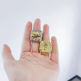 $enCountryForm.capitalKeyWord Australia - One set 2PCS 1997 2003 FLORIDA MARLIN S WORLD SERIES CHAMPIONSHIP RING Souvenir Men Fan Gift Drop Shipping