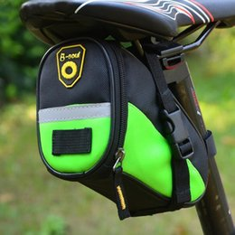 bike panniers green Canada - Wholeslae Bike Accessories Bicycle Tail Bag Mountain Bike Saddle Rear Bag Bicycle Back Bags Waterproof Zip Bag Free Shipping