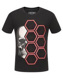 Discount men rhinestone t shirts - 2019 mens designer t shirts men short sleeve fashion rhinestone hexagon Skull man t-shirt male high quality 100% cotton